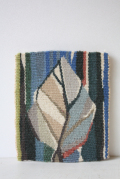 北欧織物/フレミッシュ織/つづれ織り/葉っぱモチーフ