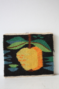 北欧織物/フレミッシュ織/つづれ織り/かりんの実