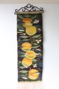 北欧織物/フレミッシュ織/つづれ織り/黄色い実