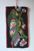 北欧織物/フレミッシュ織/つづれ織り/古典柄/オウム