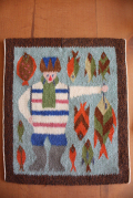 北欧織物/フレミッシュ織/漁師さんとサカナ/SOLD OUT