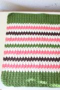 北欧ヴィンテージ/手編みのランチョンマット/ストライプ模様