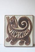 北欧ヴィンテージ/Michael Andersen & Son社/子ネコの陶板
