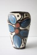 北欧ヴィンテージ/Kahler(ケーラー)/ヴィンテージ花瓶/ブルー&ブラウン