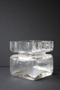 北欧ヴィンテージ/Riihimaen Lasi/Pala/ガラス花瓶/クリアカラー(大)