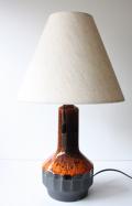 北欧照明/デンマーク製/ヴィンテージテーブルランプ/オレンジ×ブラック