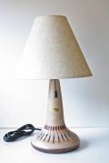 北欧照明/デンマーク製/ヴィンテージテーブルランプ/PMKeramik/ベージュ×ブラウン