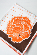 北欧ヴィンテージ/ランチョンマット/オレンジの花