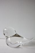 スウェーデン製/ガラスのオブジェ/クリアカラーの小鳥/SOLD OUT
