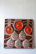 北欧ヴィンテージ/迫力ある大サイズ!SOHOLM(スーホルム)/赤い木の実の陶板/SOLD OUT