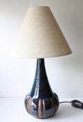 大サイズ!北欧照明/Michael Andersen & Son/ヴィンテージテーブルランプ/マリンブルー