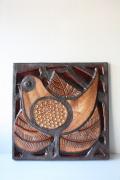 迫力ある大サイズ!北欧ヴィンテージ/SOHOLM(スーホルム)/陶板の壁掛け/鳥