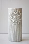 北欧デザイン/Finnsdottir/花瓶/Pipanella楕円(大)/ライトグレー