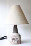北欧照明/デンマーク製/ヴィンテージテーブルランプ/ブラウン×ホワイト釉薬