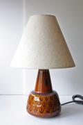 北欧照明/Soholm(スーホルム)/ヴィンテージテーブルランプ/ブラウンの羽模様