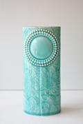北欧デザイン/Finnsdottir/花瓶/Pipanella楕円(大)/ターコイズ