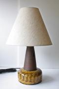 北欧照明/Kahler(ケーラー)/ヴィンテージテーブルランプ/チョコレート×マスタードカラー