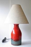 北欧照明/デンマーク製/ヴィンテージテーブルランプ/朱赤×ブルーグリーン