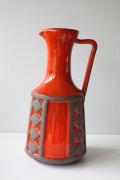 大サイズ!デンマーク製/Frank Keramik(フランクセラミック)/持ち手付き花瓶