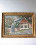 北欧刺繍/クロスステッチ/フレーム/カントリーサイドのお家