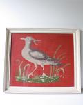 北欧刺繍/クロスステッチ/フレーム/水鳥