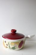 北欧ヴィンテージ/陶器の片手鍋/いろいろな食材