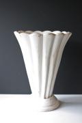 フレンチヴィンテージ/木製花瓶/シャビーホワイト