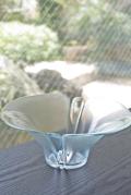 北欧ヴィンテージ/Holmegaard(ホルムガード)/ガラスのボウル/フラワー/Lilie