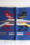 北欧織物/テーブルセンター/2羽の鳥