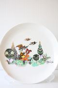 北欧ヴィンテージ/Bjorn Wiinblad(ヴョルン・ウィンブラッド)/飾り皿