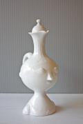 北欧ヴィンテージ/Bjorn Wiinblad(ヴョルン・ウィンブラッド)/持ち手付き花瓶/ホワイト