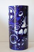 北欧ヴィンテージ/Rosenthal(ローゼンタール)/Bjorn Wiinblad(ヴョルン・ウィンブラッド)/花瓶/青い鳥