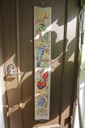 北欧ヴィンテージ/刺繍の壁掛け/カラフルな鳥たちの集い/SOLD OUT