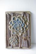 北欧ヴィンテージ/Michael Andersen & Son社/陶板の壁掛け/青いお花/SOLD OUT