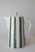 北欧ヴィンテージ/Lyngby Porcelain(リュンビュー・ポーセリン)/コーヒーポット/ストライプ