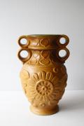 ドイツヴィンテージ/持ち手付き花瓶/サンドブラウン/大サイズ