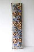 北欧ヴィンテージ/Michael Andersen & Son社/陶板の壁掛け/青い小鳥