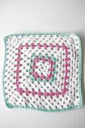 北欧ヴィンテージ/手編みのドイリー/ピンク×パステルカラー