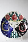 北欧ヴィンテージ/Stavangerflint/絵皿/美しい女性