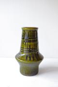 ドイツヴィンテージ/花瓶/モスグリーン