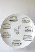 北欧ヴィンテージ/Gustavsberg/絵皿/豪華客船の旅