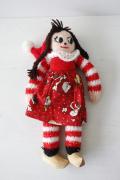 【クリスマス】北欧ヴィンテージ/手編み/ニッセのカップル/女の子