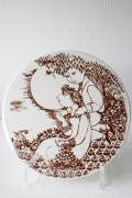 北欧ヴィンテージ/Bjorn Wiinblad(ヴョルン・ウィンブラッド)/飾り皿/晩/ブラウン