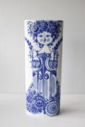 北欧ヴィンテージ/Bjorn Wiinblad(ヴョルン・ウィンブラッド)/オーバル花瓶/花を持つ女性