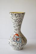ドイツヴィンテージ/花瓶/マーブル×イエロー