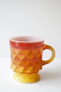 ファイヤーキング/ミルクガラスのマグカップ/オレンジグラデーション