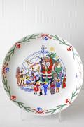 北欧ヴィンテージ/Lyngby Porcelain/クリスマスプレート/世界の子供たち