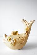 北欧ヴィンテージ/Rosa Ljung/陶器のオブジェ/ユニークなお魚さん/SOLD OUT