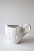 北欧ヴィンテージ/持ち手付き花瓶/ジャグ/ミルクホワイト
