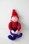 【クリスマス】北欧ヴィンテージ/手編み/ニッセ/お座りしてる男の子